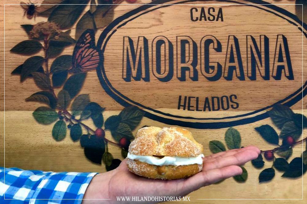 CASA MORGANA y su delicioso ¡pan de muerto con helado!