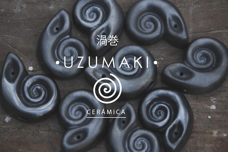UZUMAKI. perpetuo movimiento plasmado en pipas de barro negro